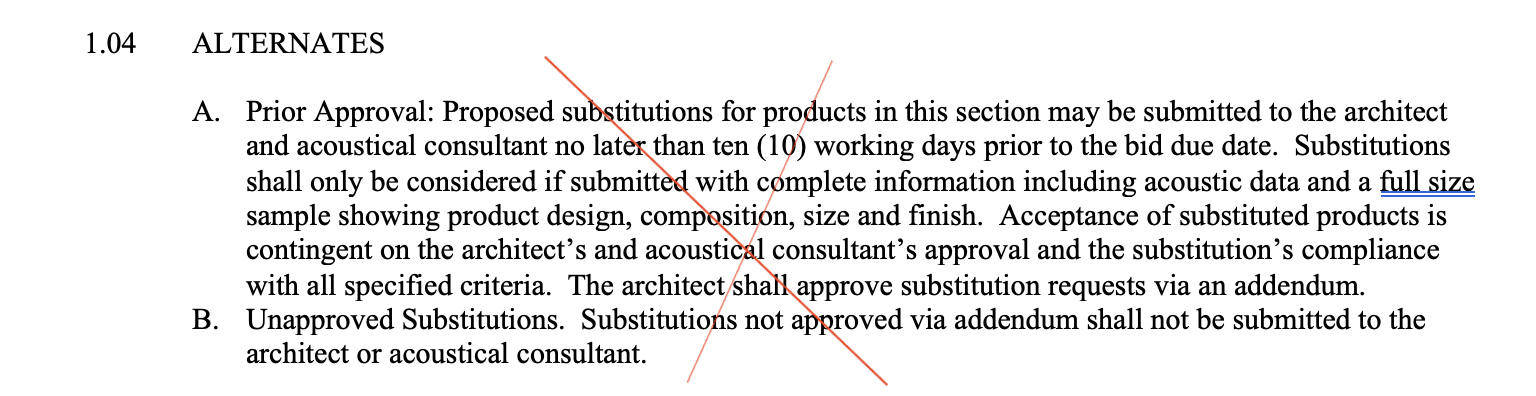 Specifying Product Substitution Requirements